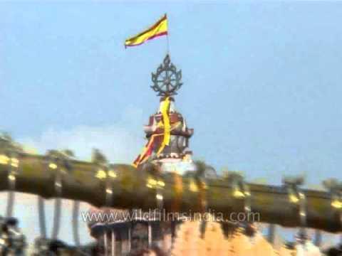 Top Shikhara Of Jagannatha Temple In Puri Adorned With Ritual