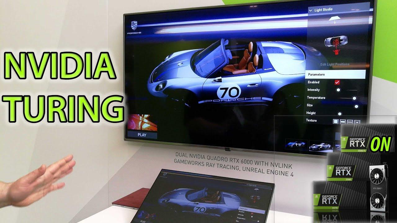 NVIDIA RTX Live Demo - Ray Traced Porsche on Turing GPU