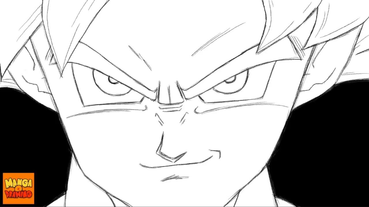 Dessin de goku ultra instinct dragon ball super youtube - Goku ultra instinct sketch ...