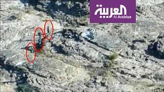 من السماء.. العربية ترصد معركة نادرة في صعدة