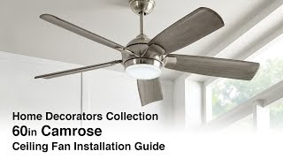 How to Install the Camrose Ceiling Fan
