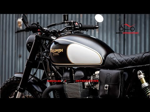 New Triumph Twin Black Star Cafe Racer| New Triumph Street Twin Custom by Macco Motors