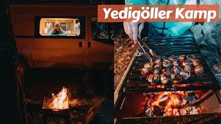 Karavanla Yedigöller'de Kış Kampı, Mangalda Kestane - Trail of Us Van Life