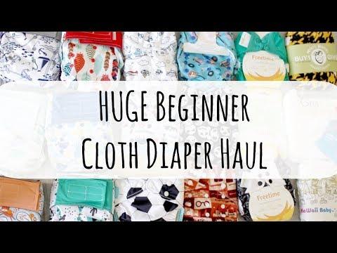 HUGE STARTER CLOTH DIAPER HAUL!   Totallyblushing
