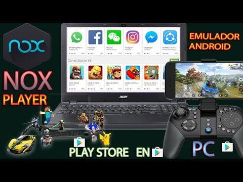 NOX PLAYER - COMO TENER LA PLAY STORE EN TU PC Descargar