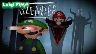 Luigi Plays: SLENDERRR (with Mario???)