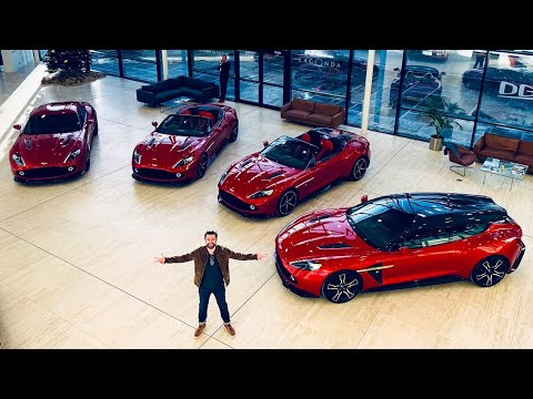 My Friend Bought ALL FOUR Aston Martin Vanquish Zagato Supercars!