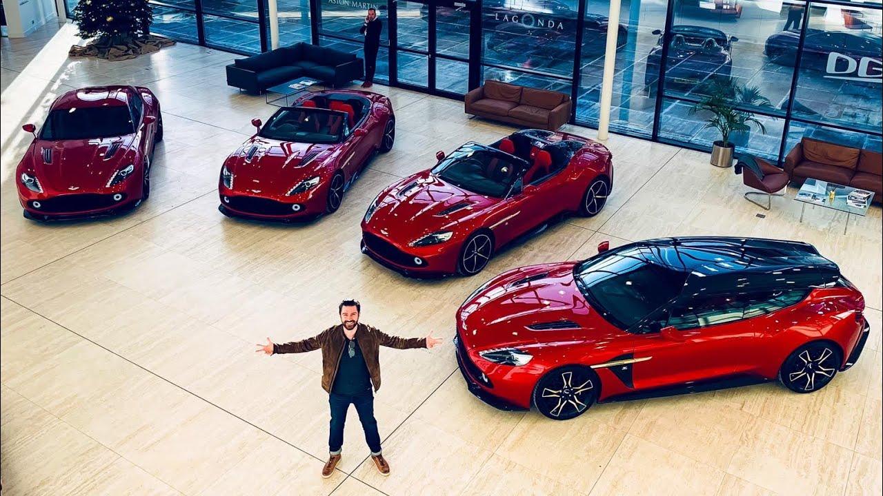 My Friend Bought All Four Aston Martin Vanquish Zagato Supercars Youtube