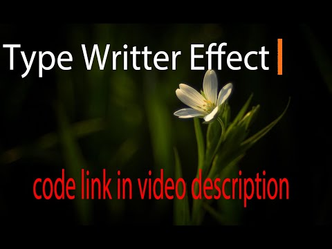 Typewriter Effect CSS | HTML & CSS | Typewriter Effect Bootstrap