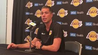 [FULL] Lakers GM Rob Pelinka: I've seen Lonzo Ball emerge this offseason | NBA on ESPN