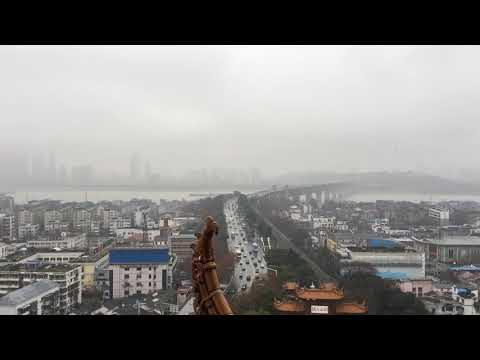 Wuhan Yangtz River Bridge view from Huanghe building