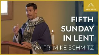 Gambar cover Fifth Sunday in Lent - LIVE Mass with Fr. Mike Schmitz