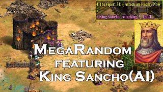 AOE2:DE   3v3 MegaRandom   ft. King Sancho(Extreme AI)