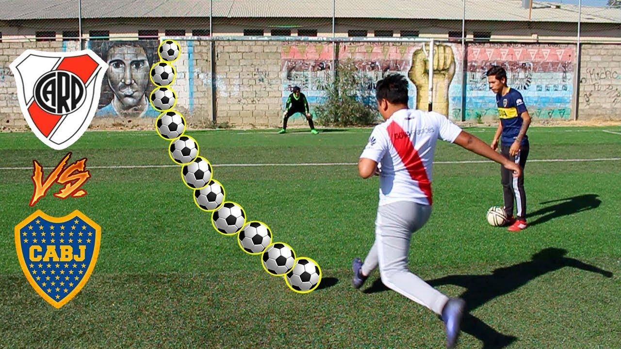 RIVER PLATE Vs BOCA JR ¡Retos de fútbol épicos!