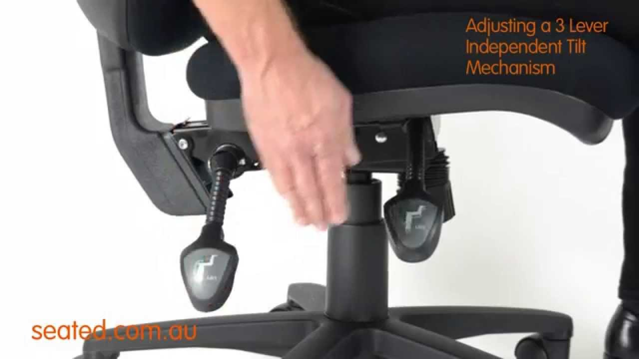 Ergonomic Chair Levers Rocking Adirondack Adjusting A 3 Lever Independent Tilt Mechanism Youtube