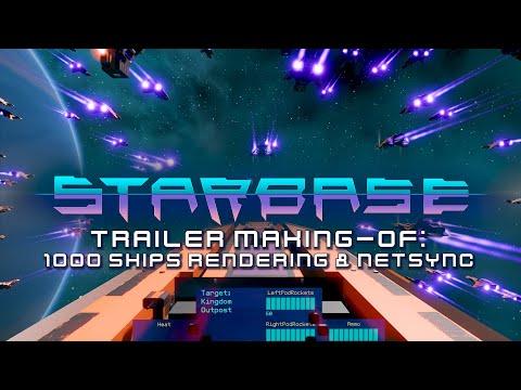 Starbase - Trailer Making-of: 1000 Ships Rendering & Netsync