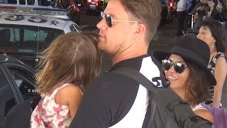 PREMIUM EXCLUSIVE: Channing Tatum And Adorable Family Return From Beach Vacation