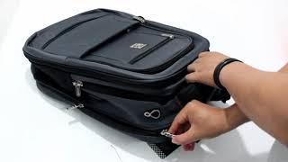 Tas Ransel Laptop USB Original Bruno Cavalli Tas Punggung Kerja Kantor Kuliah Multifungsi Ori