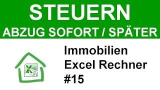 Immobilien Steuern: 3000€ Renovierung -  sofort absetzen oder Abschreibung (AfA)? (Excel Tool #15)