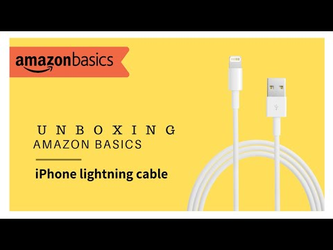 Unboxing Amazon Basics Apple Certified Lightning to USB Charge and Sync Cable. (6 Feet)