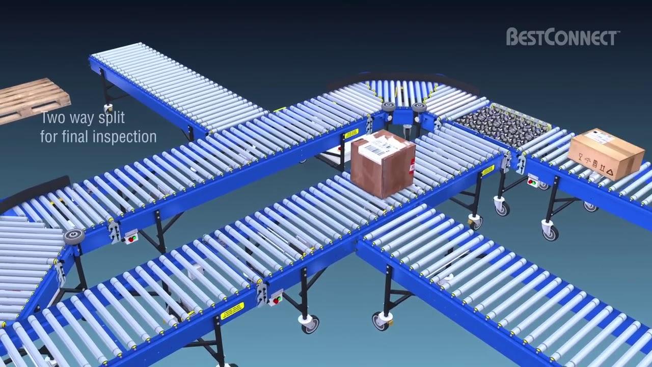 Sistema modular de transportadores motorizados