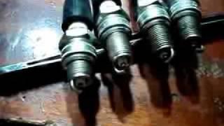 Зажигание на строчнике в действии(Блок высокочастотного зажигания на строчнике ТВС110ЛА двухтактная система генерации 160 кгц, работает на..., 2010-12-01T22:26:20.000Z)