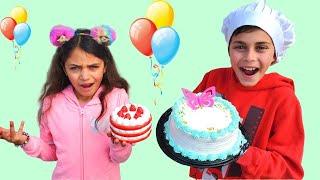 Heidi يأمر الكعكة ويأكلها ويعطيها ألعابها Heidi و Zidane
