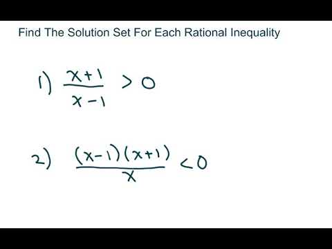 Find The Solution Set For Each Rational Inequality. Part 1