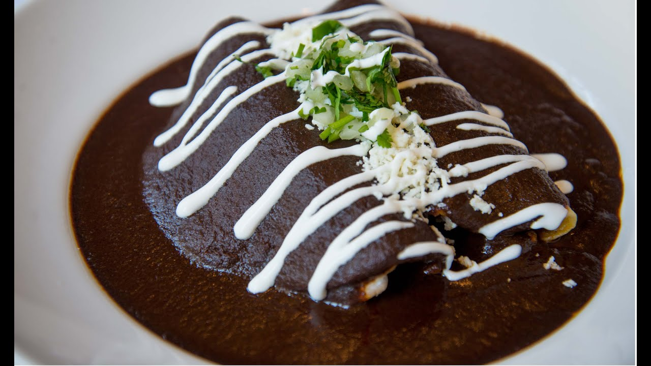 Enmoladas (Chicken Mole Enchiladas) Recipe — Dishmaps
