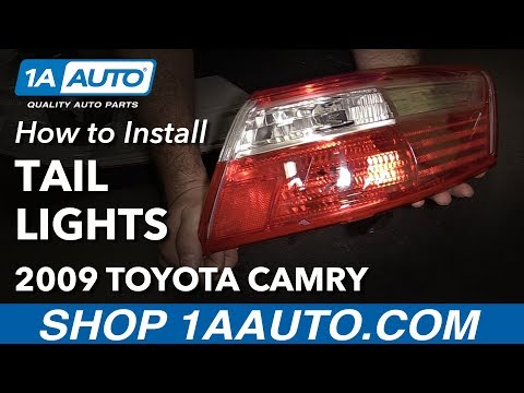 How to Install Replace Tail Lights 2007-09 Toyota Camry