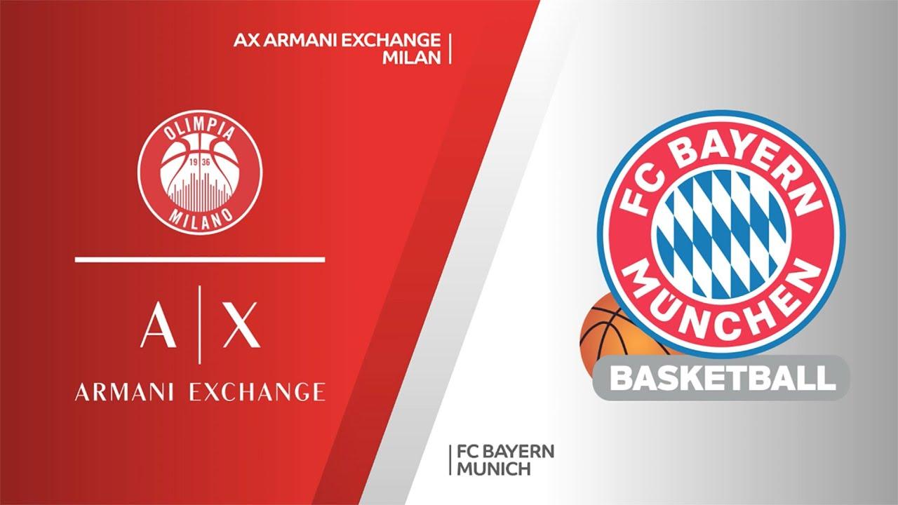 AX Armani Exchange Milan - FC Bayern Munich Highlights | Turkish Airlines EuroLeague, PO Game 1