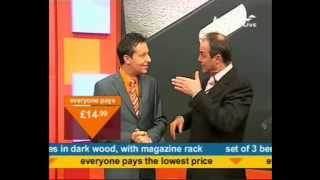 Andy Hodgson And Peter Simon Hug On Bid Tv 24 June 2007