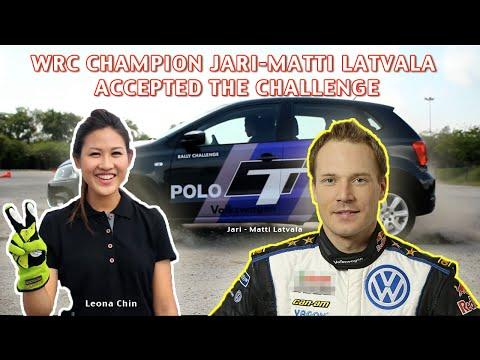 Leona Chin challenges Jari-Matti Latvala to a gymkhana battle with Volkswagen Setia City Mall