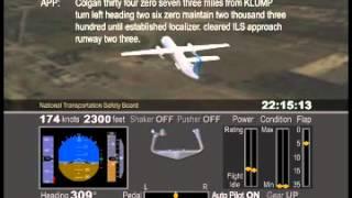 Colgan 3407 NTSB Animation