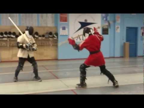 Houston HEMA Sparring (Part Poleaxe) - YouTube