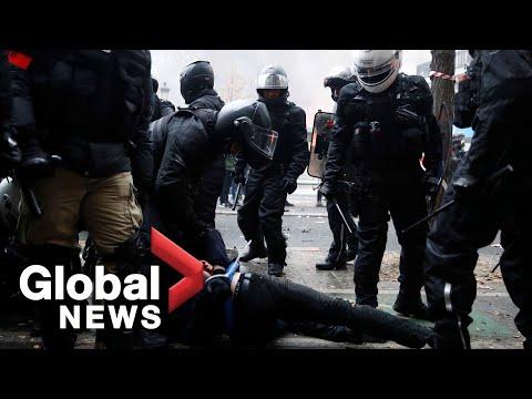 Video captures violent