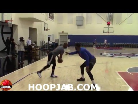 Chris Paul vs Branden Dawson 1 on 1 highlights. NBA Practice HoopJab