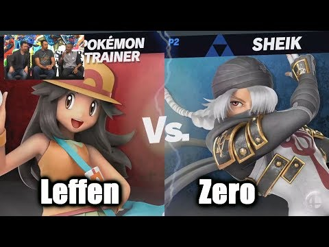 Leffen (Pokemon Trainer) vs ZeRo (Sheik) - Super Smash Bros. Ultimate | E3 2018