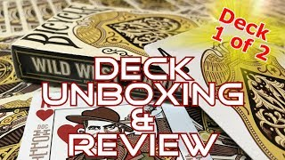 Wild West Playing Cards (part 1) - Lawmen Deck - Unboxing & Review - Ep28 - Inside the Casino