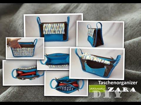 taschen organizer von akkreativ n hen youtube. Black Bedroom Furniture Sets. Home Design Ideas