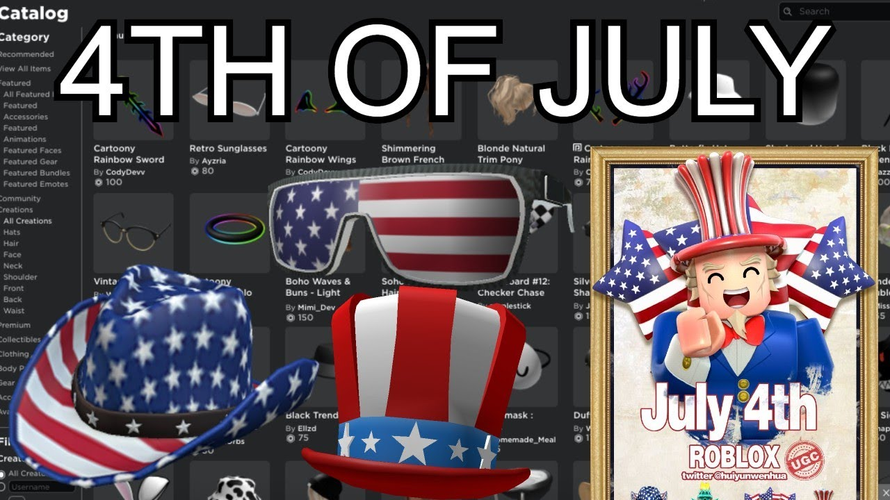 Roblox 4th Of July Ugc Sale Youtube