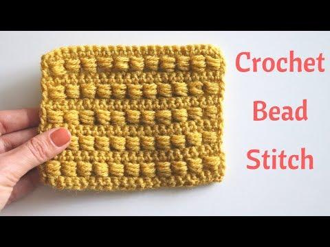 Crochet Bead Stitch / Free Crochet Tutorial