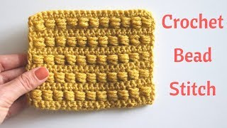 Crochet Bead Stitch / Free Crochet Tutorial