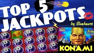 ★★ TOP 5 JACKPOTS ★★ BEST WINS from KONAMI slot machines- JACKPOTS/ BIG WINS