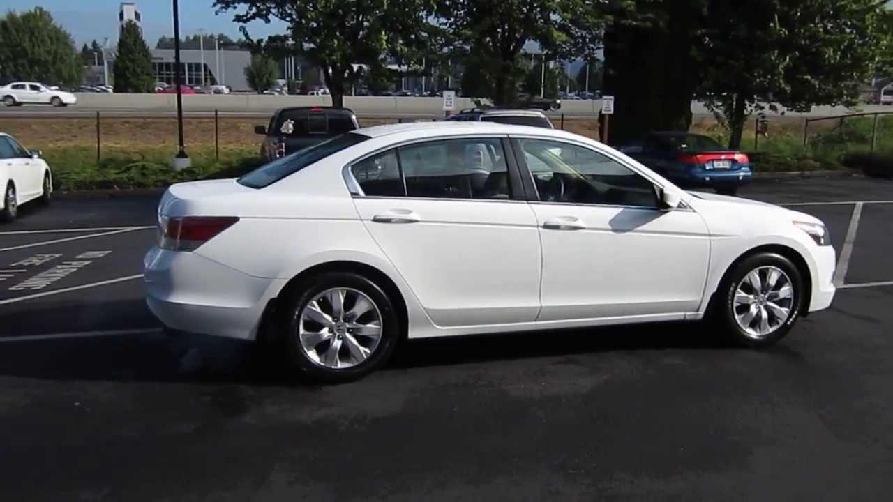 2009 Honda Accord White Stock 731077 Youtube