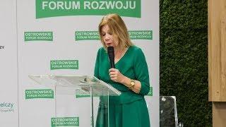 Ostrowskie Forum Rozwoju - wykład Elżbiety Mączyńskiej