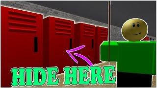BEST SECRET HIDING SPOT IN ROBLOX BALDI'S BASICS! *INVISIBLE*