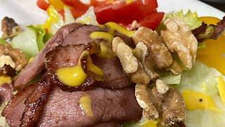 간편하고 정말 맛있는 다이어트 오리고기 샐러드_요리초보…