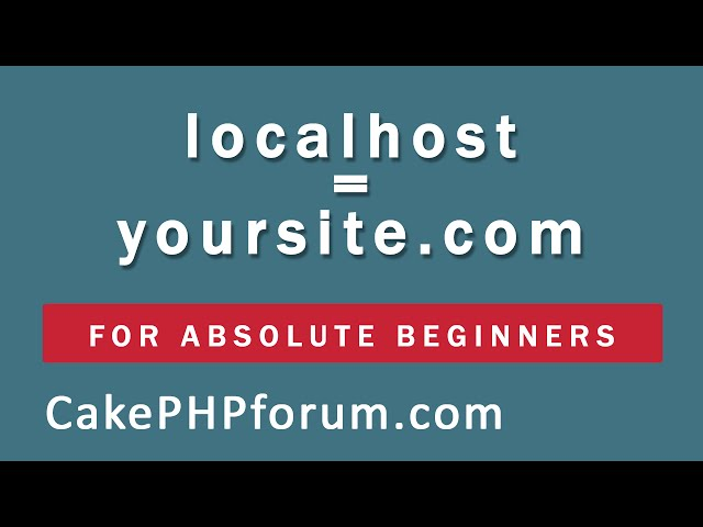 CakePHP 2.5.4 Basics Tutorial for Beginners - Blog Application - 03 - Assign a domain name