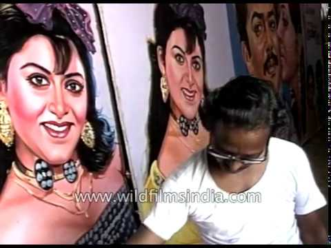 Painting giant South Indian Film posters